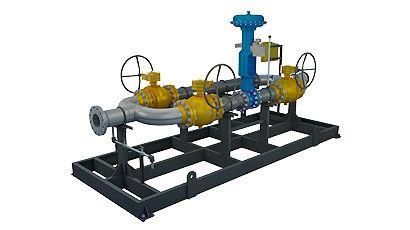 Estação de medição fiscal para gases